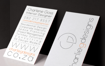 charlene business card
